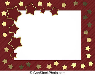 christmas card with gold stars