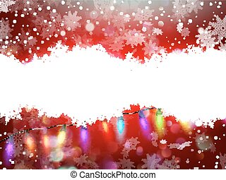 Red christmas card with snowflakes. EPS 10