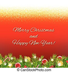 Red Christmas Card With Text