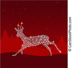 Red Christmas deer