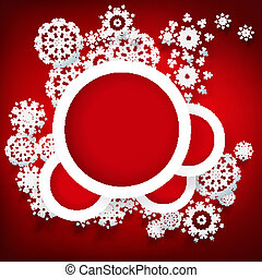 Red Christmas design with space for text.