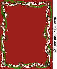 Red Christmas Fantasy border - My original design of a red...