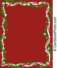 Red Christmas Fantasy border