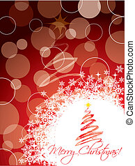 Red christmas greeting card design