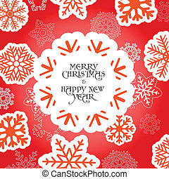 Red Christmas greeting card with sn