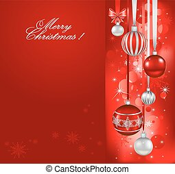 Red christmas holiday background
