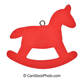 Red Christmas horse