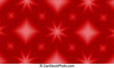 Red Christmas Kaleidoscope HD Loop - Red Kaleidoscopic...