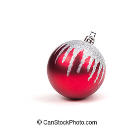 Red Christmas Ornament on White