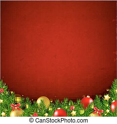Red Christmas Poster With Bokeh