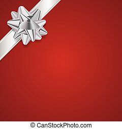 Red Christmas Present Background