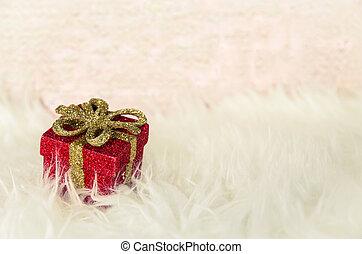 red christmas present box