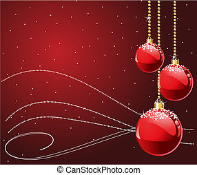 Red Christmas - Red colors Christmas and New year\'s place...