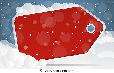 Red Christmas sale background vector