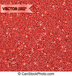 Red Christmas shining glitter seamless pattern