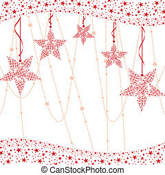 Red christmas star background