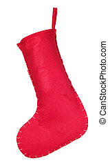 Red christmas stocking for presents