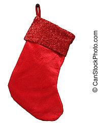 Red Christmas Stocking - Red Christmas stocking cut out