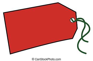 Red Christmas Tag