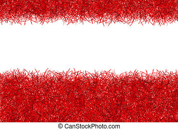 red christmas tinsel texture background