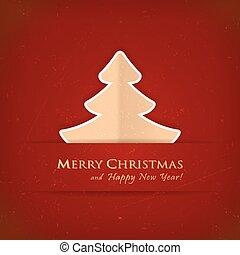 Red Christmas tree card