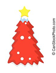 Red Christmas Tree Design