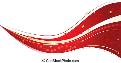 Red christmas wave