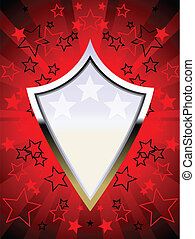 Red chrome shield