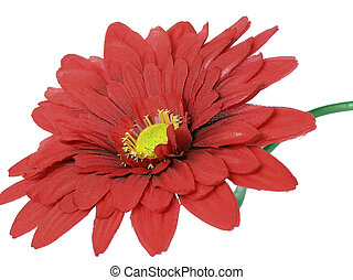 Red chrysanthemum - artificial flower from material