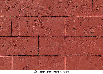 Red Cinder Block Wall