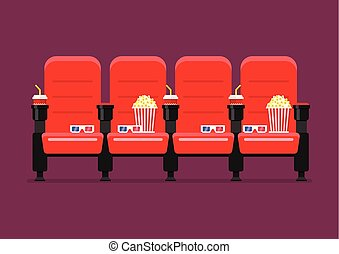 Red cinema chairs. Auditorium and seats in a movie theater ...