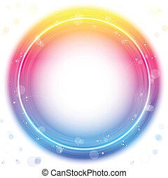 Red Circle Border with Sparkles and Swirls. - Vector - Red...