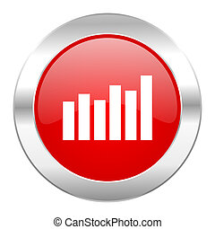 red circle chrome web icon isolated