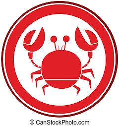 Red Circle Crab Logo