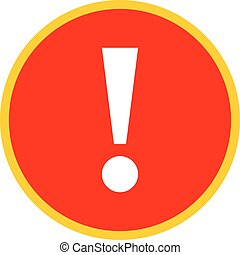 Red circle exclamation mark icon warning sign