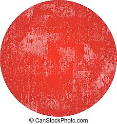 Red circle grunge stamp with blank isolated on white background