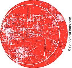 red circle grunge stamp
