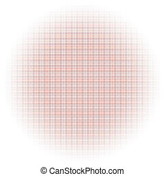 Red Circle Halftone Background