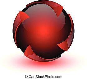 red circle swirl