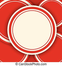 Red circles vector background with copy space.