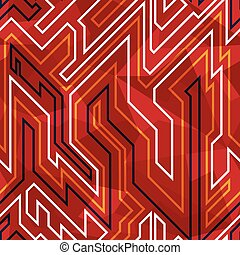 red circuit seamless pattern