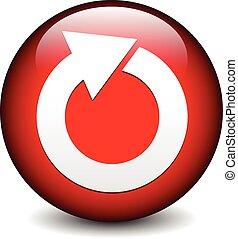 Red circular arrow icon. Red circular arrow icon.