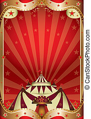 Red circus baroque frame