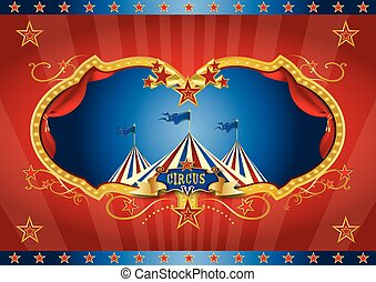 Red circus screen background