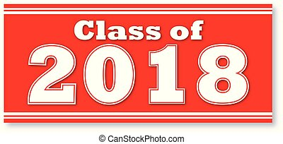 Red Class of 2018 Banner - Red Graduating Class of 2018...