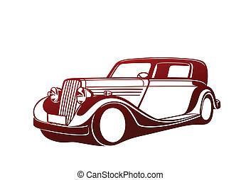 Red classic auto