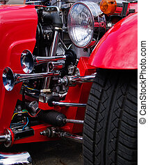 red classic car
