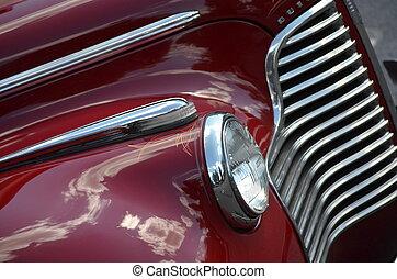 Red classic car