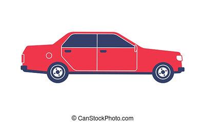 Red classic sedan