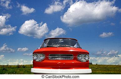 Red classic truck